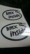 2x BMX Funny Stickers Decals - Old skool Self-Adhesive