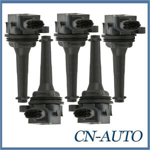 5Pcs Ignition Coils Pack For Volvo C70 S60 S70 S80 V70 XC90 XC70 Cross Country