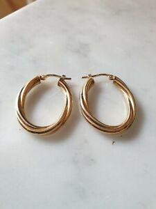 Wunderschöne Ohrringe wie  Creolen, Gold 750 !!!!