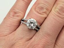 Round Solitaire Engagement Ring Size 6 Qvc Epiphany Platinum Clad Sterling 3.5ct