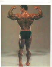 bodybuilder CHRIS DICKERSON Rear Double Bis Pose Bodybuilding Muscle Photo Color
