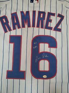 Aramis Ramirez Signed Go Cubs White Home Chicago Authentic Jersey PCM...