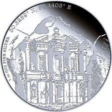 Niue Islands 2 Dollar Forgotten Cities  Petra, 2015,  1 Unze Silber 1 oz,