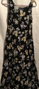 All  That  Jazz Size M Sleeveless Floral Easy Comfortable Dress Vintage