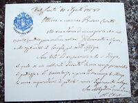 1881 122) RARO MANOSCRITTO SENATORE LUIGI CHIESI (DI REGGIO EMILIA) RISORGIMENTO