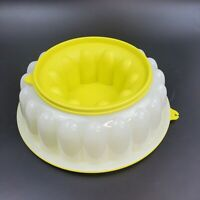 Vintage 3 Piece Tupperware Jello Mold Ice Ring Lime Green 1202 1201 1203