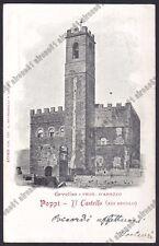 AREZZO POPPI 20 CASTELLO Cartolina viaggiata 1903