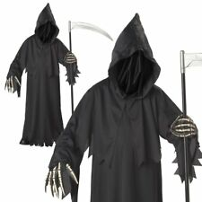 Grim Reaper Haunted Soul Taker Devil Boys Kids Halloween Fancy Costume Age 5-10
