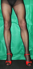 2 Pairs Black Sheer 15 Denier Medium/Large Size Run Resist Tights High Quality