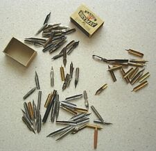 Large variety of makes and types of mostly vintage pen nibs. 89 in total