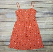 Old Navy Womens Spaghetti Strap Orange Heart Dress Size 14