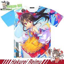 TouHou Project Hakurei Reimu Anime Short tee cosplay Shirt Full color TeeTop #57