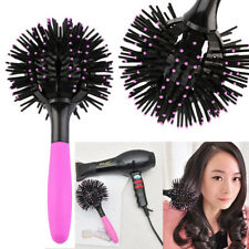 3D Spherical Comb Bomb Curl Full Round Hot Curling Styling Brush for Girls Women