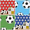 Football Wallpaper Soccer Ball Sport Goal Kids Boys Bedroom Red Blue Green White