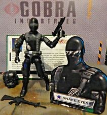 GI JOE ~ 2003 SNAKE EYES  ~ 100% complete with FILE CARD ~ AGENT SPY 1982