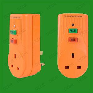 13A Circuit Breaker RCD Adaptor, 3 Pin UK Plug, Trips Within 40 Milliseconds