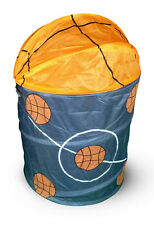 POP UP FOLDABLE CLOTHES LAUNDRY HAMPER BASKET STORAGE BIN KIDS SPORTS BASKETBALL