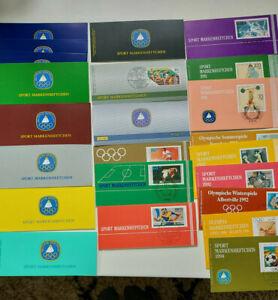 Bund Markenheftchen Sport aus 1979 bis 1996, 23 Stück, postfrisch