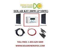 Solar Panel KIT Panneau Solaire 200W 200 Watt Mono (2 * 100 W) 30A controler 12V