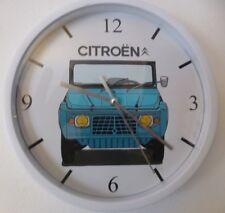 CITROEN MEHARI pendule murale horloge 20cms ( KDO DKO 4X4 PLAGE VACANCES BEACH