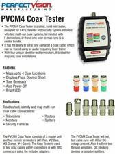 Coax Cable Tester 4 Way Mapper Coax Locator Tracker Toner Commercial Grade New