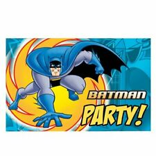 6 Batman Invitation Cards with Envelopes Kids Childrens Happy Birthday Party