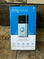 Ring Wi-Fi Enabled Video Doorbell in Satin Nickel, w/ Alexa 1 Year Warranty!