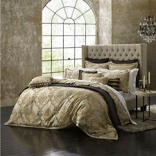 DAVINCI CASTILLE GOLD Floral Queen Size Bed Doona Duvet Quilt Cover Set NEW