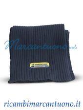 Sciarpa New Holland in lana a costine blu con logo