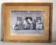 Old Antique Indian Men Group Family Rare Black & White Framed Camera Photograph