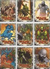 "Warlord of Mars: Preview ""Martian Creatures"" 9 Card Chase Set WM1-9 + Title Card"