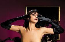 Satin Opera Gloves Black Opera Length New Adult Halloween Cristmas Womens Cloth
