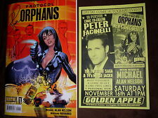 Twilight Peter Facinelli Michael Alan Nelson signed Protocol Orphans #1 comic