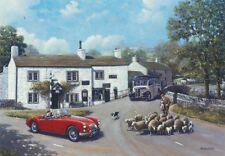 MG MGA Bedford OB Classic Car Coach Blank Birthday Fathers Day Card