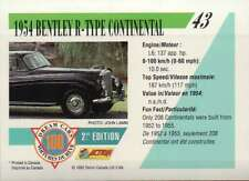 1954 Bentley R-Type Continental Dream Cars Trading Card Automobile- Not Postcard