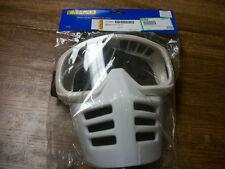 Moto Goggles white Vintage MX Motocross Goggles W/ Mask like old Scott Goggles