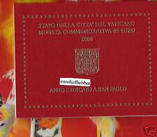 """Officiële set  Vaticaan   2  Euro  Commemorative  2008  """"Paulusjaar"""""""
