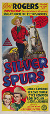 Silver Spurs (1943) Roy Rogers Cult Western movie poster print
