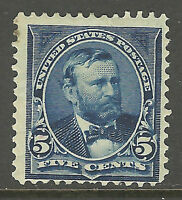 US #281 ~ Mint-OG 1898 5c Blue Grant Double-Line Watermark Perforated 12...Dm
