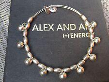 Rare Alex and Ani Byzantine Vintage Dangle Drop Silver Beaded Bangle Bracelet