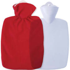 Hugo Frosch Unisex Classic Plain Fleece Cover Hot Water Bottle, Red, One Size