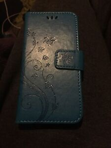 iphone 6 wallet case leather Magnetic Floral Butterflies