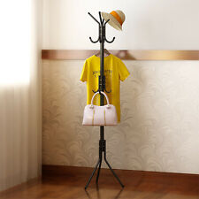 8 Hook Durable Freestanding Hat and Coat Stand Clothes Hanger Hanging Room Steel
