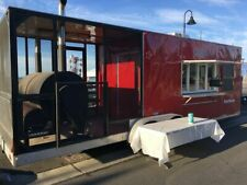 Fully Inspected 2013 30' Bbq Food Trailer with Porch/Used Commercial Bbq Pit for