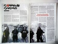 COUPURE DE PRESSE-CLIPPING :  CANNIBAL CORPSE [2pages] 08-09/2008 Alex Webster