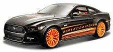 FORD MUSTANG 2015 1/24 Die Cast Model Car HARLEY DAVIDSON Metal Models