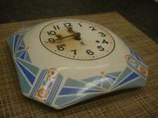 "Nice Running 8-1/2"" ""Miller Clock Co"" Dutch Mill Ceramic Plate Wall Clock   F211"