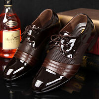 Men's Business casual Pantent Leather Shoes Pointed Toe Bridegroom wedding Shoes