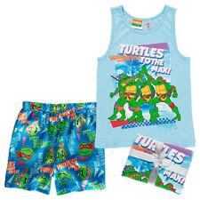 NWT Teenage Mutant Ninja Turtles Licensed Boys Summer Pyjamas Gift Set Size 14