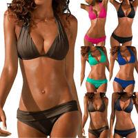 Women Swimsuit Push Up Swimwear Brazilian Bikini Set Halter Sexy Beach Bathing